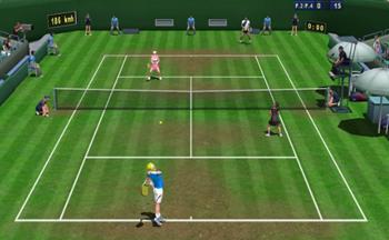 模拟打网球的游戏